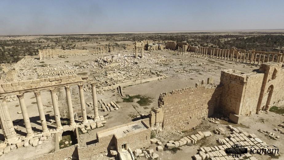 Ce qui reste du Temple de Baal (AFP, Fournie par la Direction générale de l'archéologie et des musées)