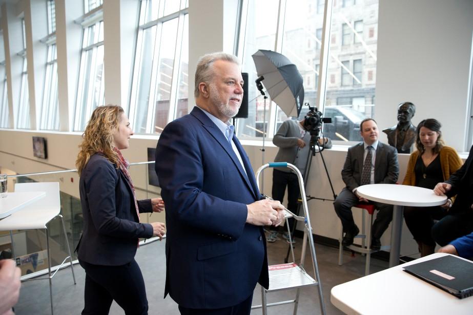 Le premier ministre Philippe Couillard lors de son... (PHOTO Martin Chamberland, LA PRESSE)