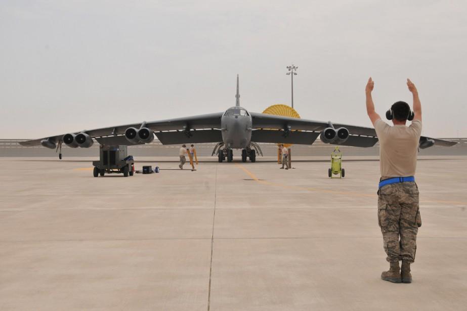 Les B-52 envoyés au Qatar étaient basés jusqu'ici... (Photo Reuters)