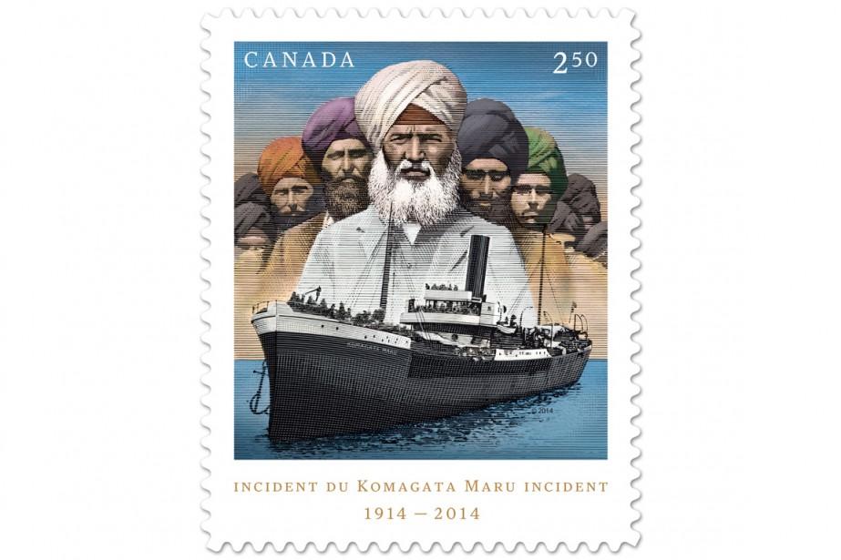 Un timbre montrant le Komagata Maru a été... (PHOTO ARCHIVES LA PRESSE CANADIENNE)