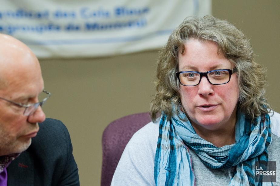 La présidente du syndicat des cols bleus de... (PHOTO EDOUARD PLANTE-FRÉCHETTE, ARCHIVES LA PRESSE)