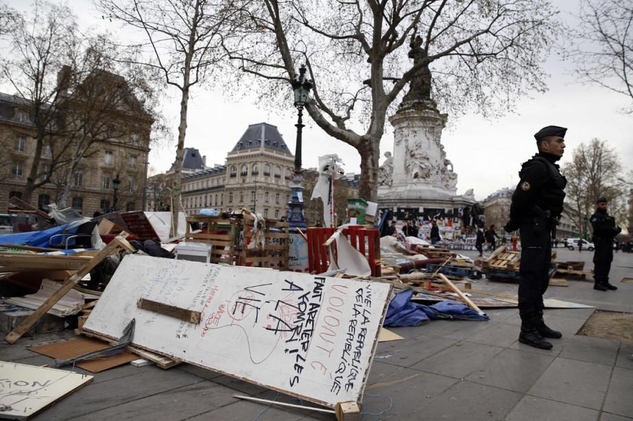 Depuis onze jours, une esplanade du coeur de... (Photo AFP)