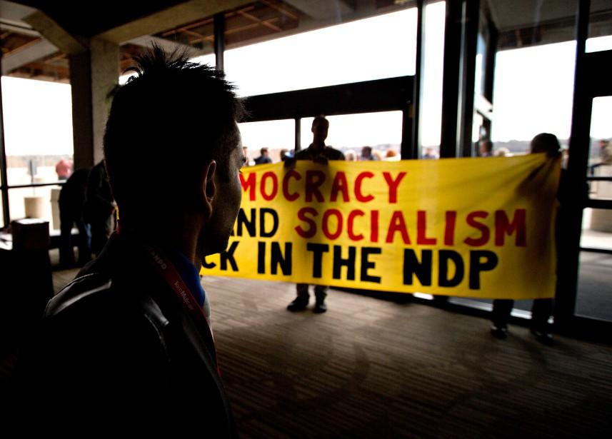 «L'aile radicale du NPD fédéral, congénitalement coupé du... (PHOTO JASON FRANSON, LA PRESSE CANADIENNE)