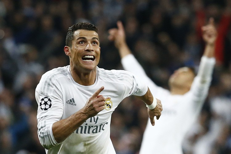 Cristiano Ronaldo a réussi un tour du chapeau... (PHOTO REUTERS)