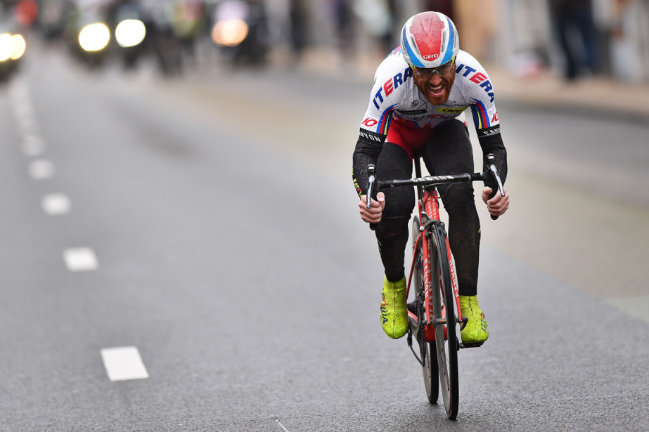 Le cycliste italien Luca Paolini... (Photo Tim de Waele, archives AFP)