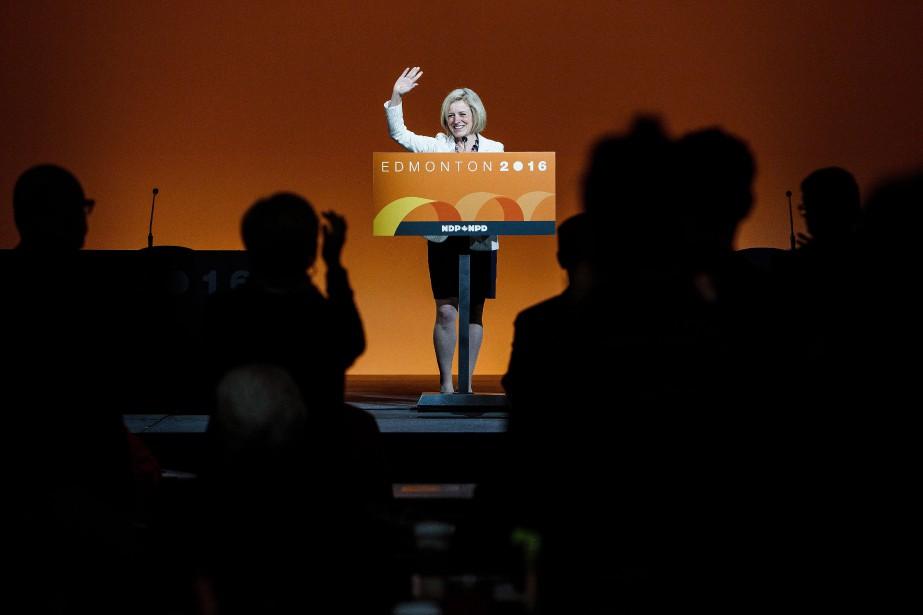 La première ministre albertaine Rachel Notley lors du... (PHOTO CODIE MCLACHLAN, LA PRESSE CANADIENNE)