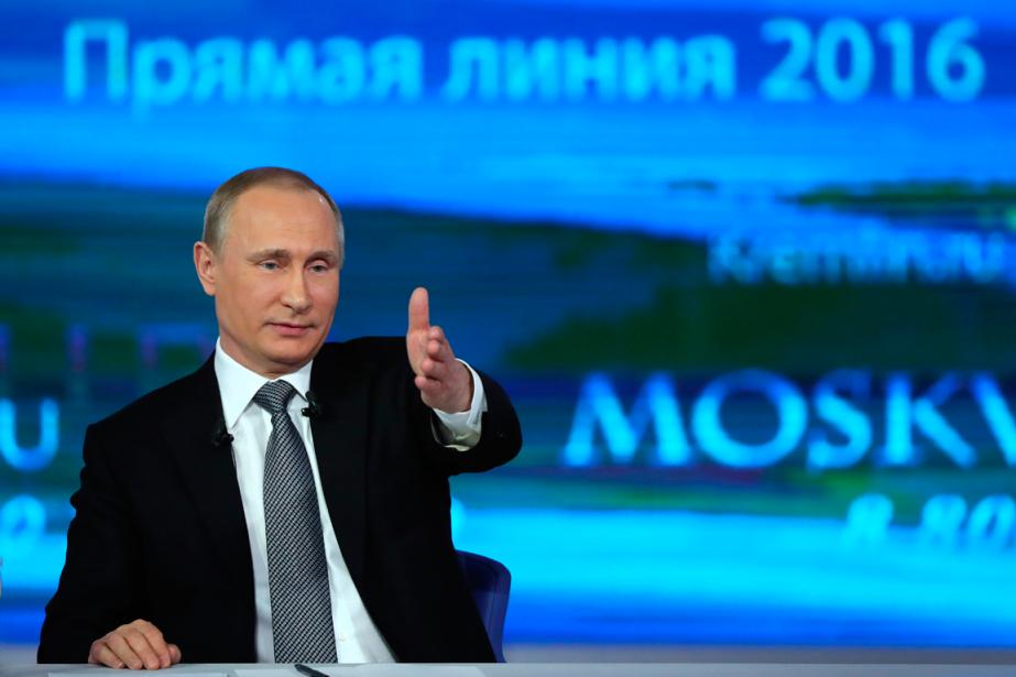 Le président russe Vladimir Poutine a participé àsa... (Photo Mikhail Klimentyev, AP)