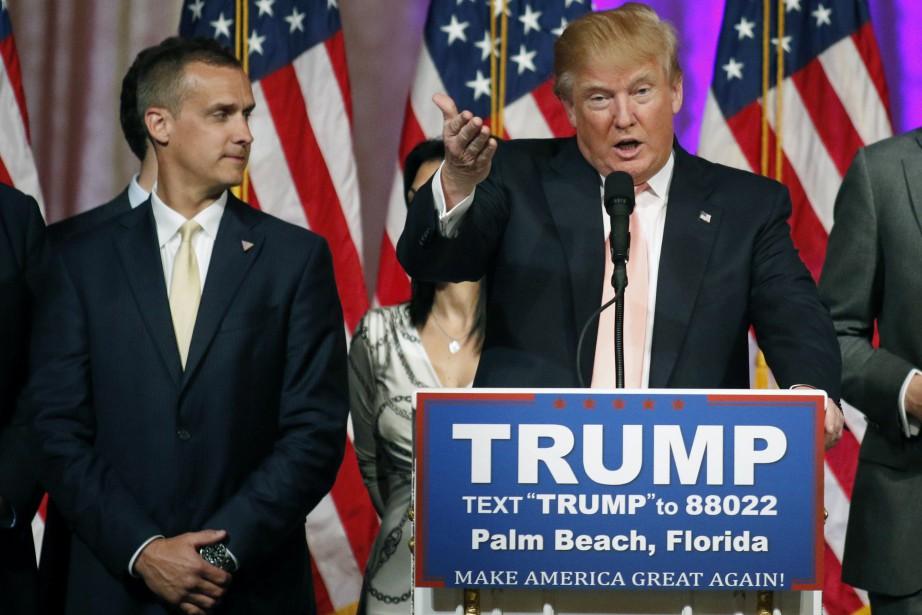 Le directeur de campagne de DonaldTrump, Corey Lewandowski,... (PHOTO JOE SKIPPER, ARCHIVES REUTERS)