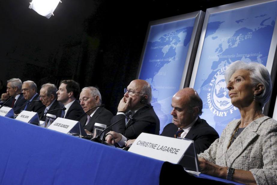 Réuni à Washington, le G20-Financesveut également identifier d'ici... (PHOTO JONATHAN ERNST, REUTERS)