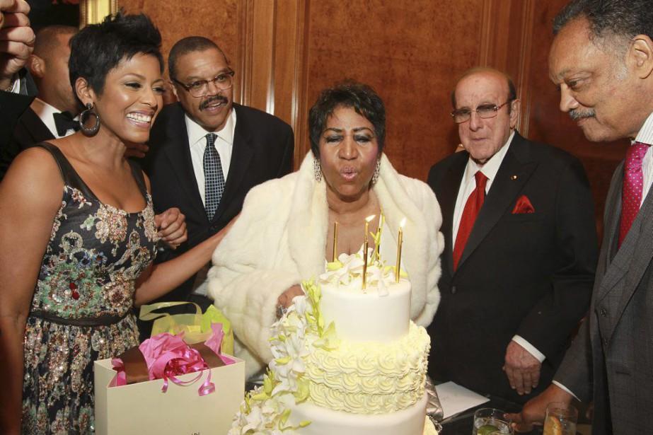 Aretha Franklin a célébré son anniversaire en compagnie... (PHOTO AP)