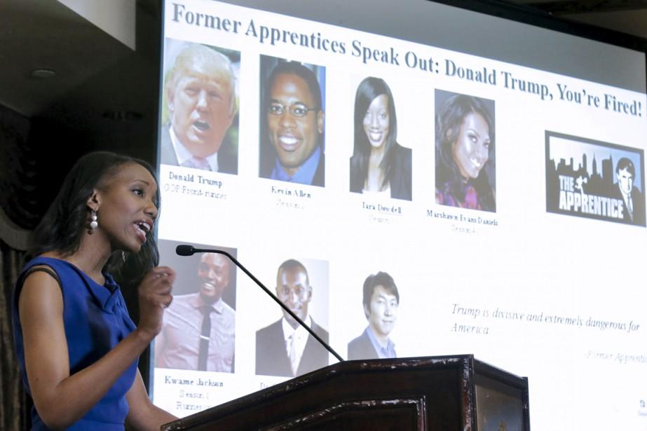 Tara Dowell, une ancienne candidate de l'émission, s'exprime... (PHOTO BRENDAN MCDERMID, REUTERS)