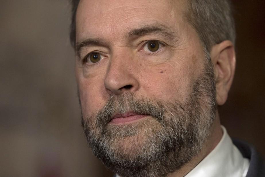 Mulcair espérait rester à la tête du NPD,... (Archives La Presse Canadienne)
