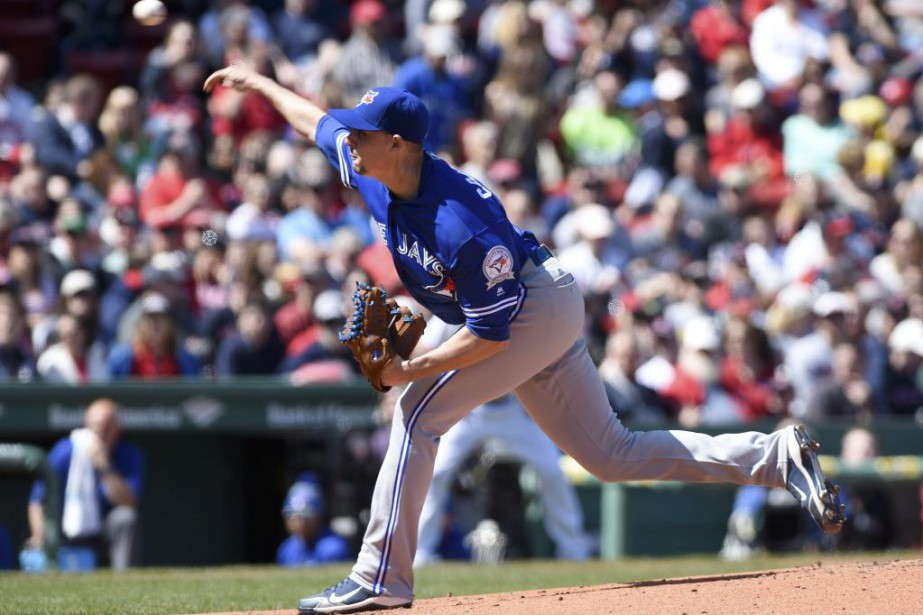Aaron Sanchez a alloué deux coups sûrs en sept... (Photo USA Today Sports)