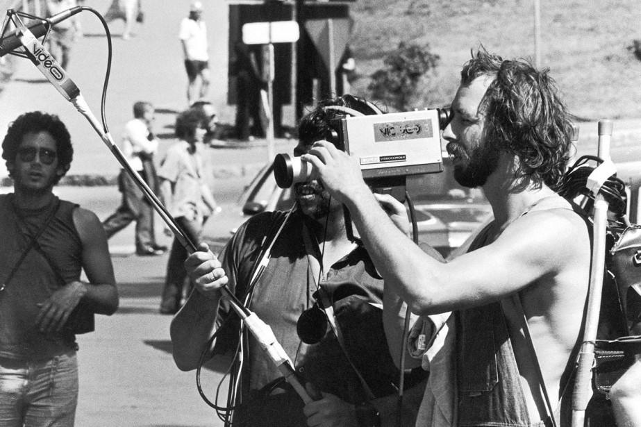 Pierre Falardeau sur le tournage du film À... (PHOTO FOURNIE PAR LE VIDÉOGRAPHE)