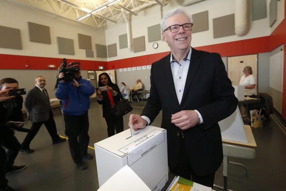 Le chef du NPD et premier ministre sortant... (Photo John Woods, La Presse Canadienne)