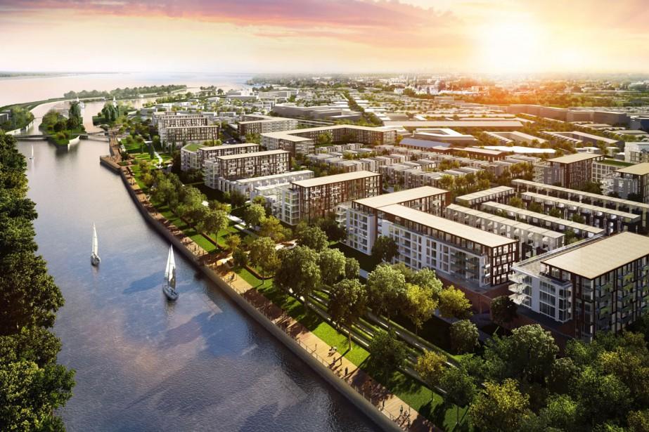 Image aérienne du projet Villanova, qui totalise 4000... (Image fournie par Villanova)