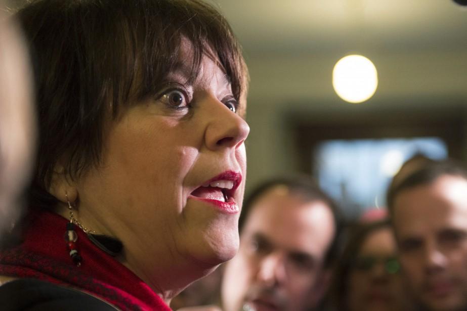 La ministre de l'Enseignement supérieur, Hélène David.... (PHOTO JACQUES BOISSINOT, ARCHIVES LA PRESSE CANADIENNE)