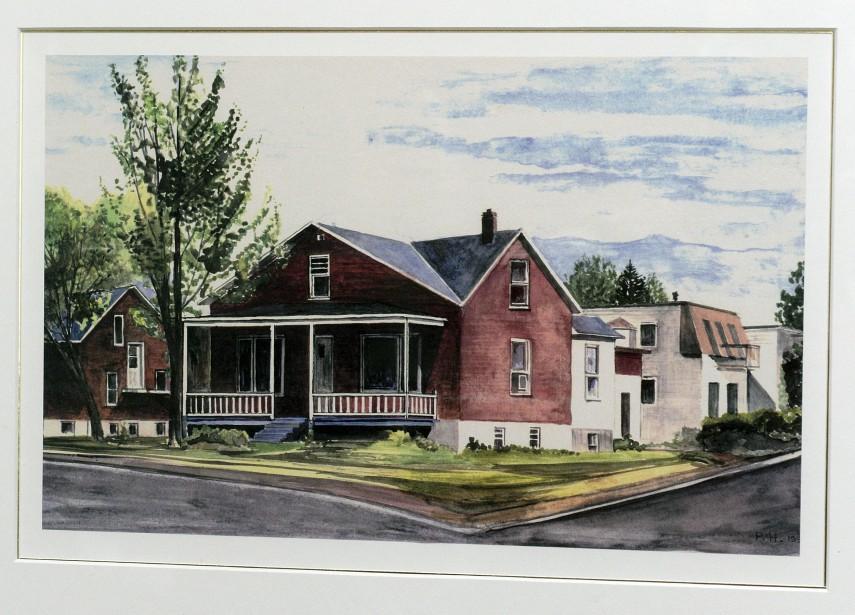 Cette toile représente la maison telle qu'elle était à l'origine. Elle est suspendue au rez-de-chaussée. (Le Soleil, Patrice Laroche)