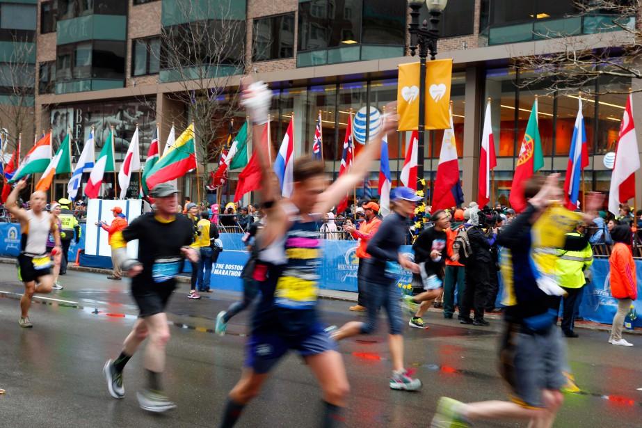Le trajet du marathon de Boston étant en... (Photo Winslow Townson, archives USA Today Sports)