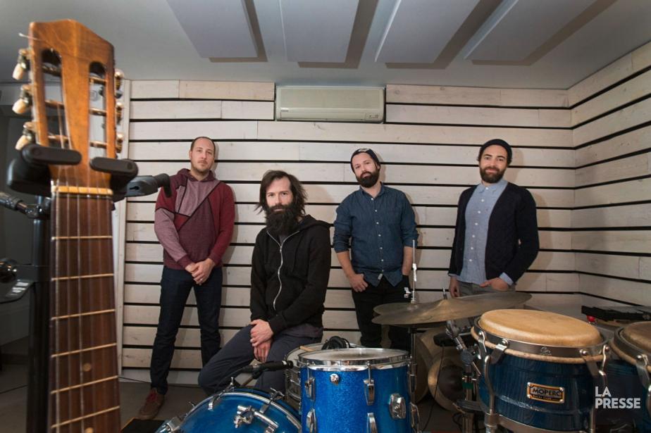 Les musiciens Alex McMahon, José Major, Philippe Brault... (PHOTO IVANOH DEMERS, LA PRESSE)