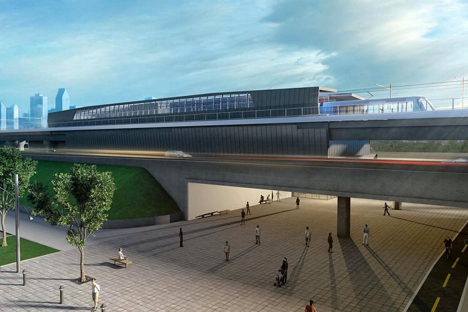 Vision d'une station type du projet de SLR.... (PHOTO TIRÉE DU COMMUNIQUÉ DE PRESSE)