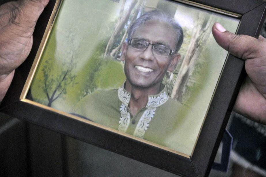 Le professeur de l'université de RajshahiRezaul Karim Siddique... (Photo MD. ABDULLAH IQBAL, AFP)
