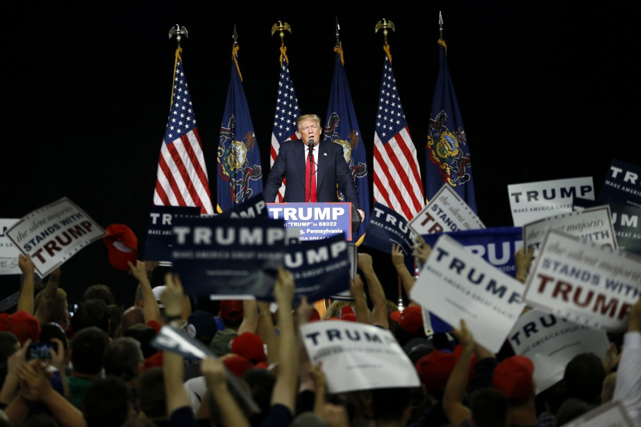 Donald Trump au meeting d'Harrisburg, Pennsylvanie (AP, Julio Cortez)