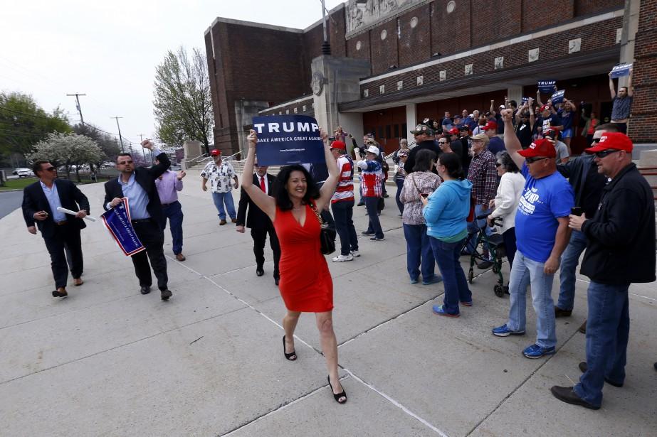 Une partisane de Donald Trump (AP, Julio Cortez)