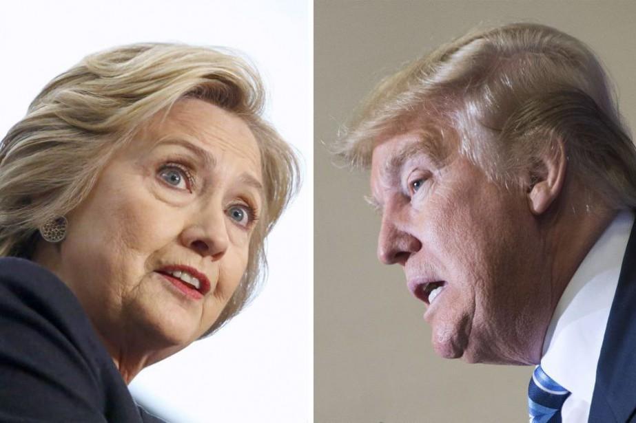 Hillary Clinton et Donald Trump... (Archives AFP)