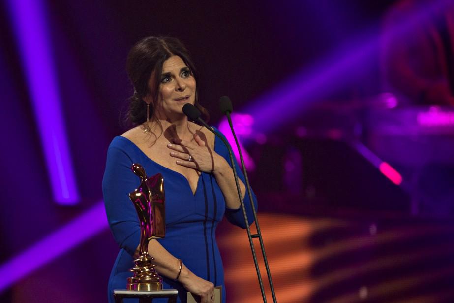 Pour une quatrième année consécutive, Guylaine Tremblay atriomphé dans la catégorie Personnalité féminine, qu'elle a remportée neuffois autotal. (La Presse, Olivier Jean)