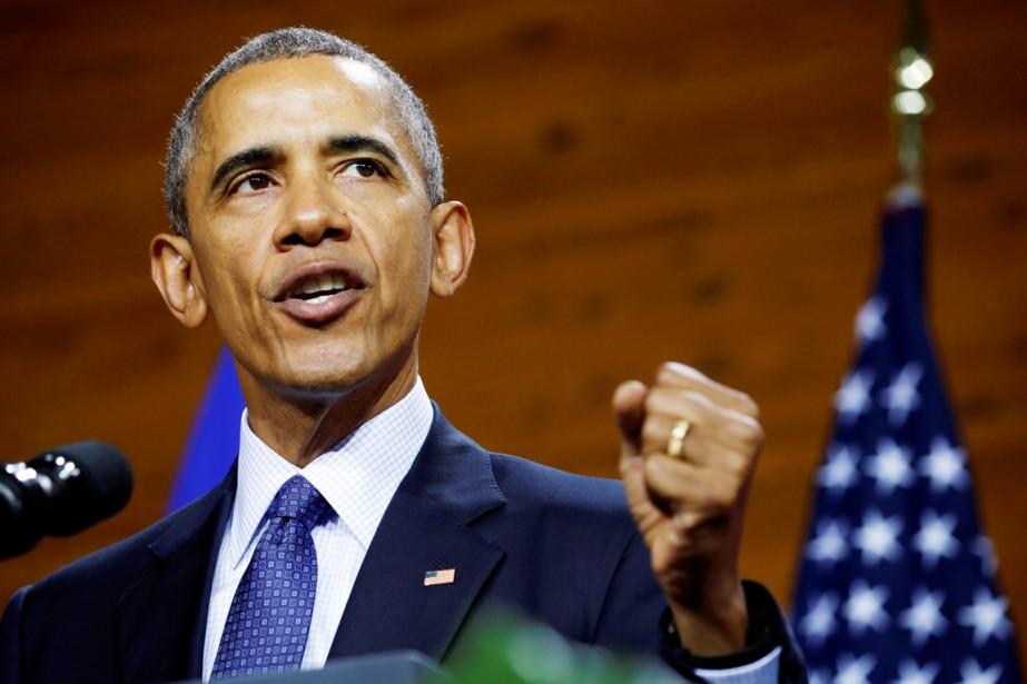 Le président américain annonce l'envoi de 250 militaires... (PHOTO KEVIN LAMARQUE, REUTERS)