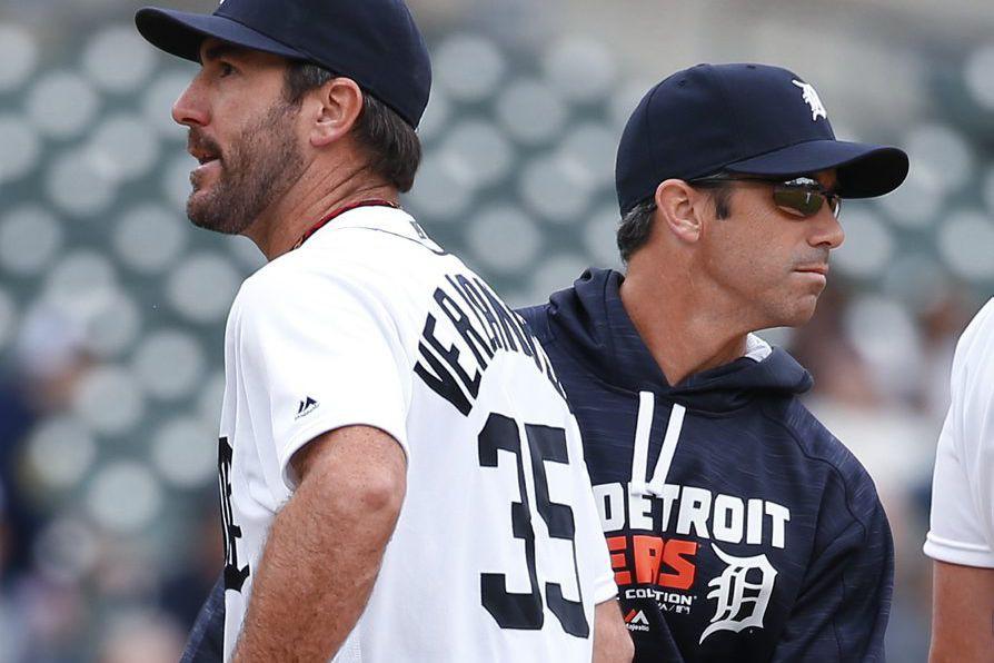 Le gérant des Tigers Brad Ausmus et le... (Photo Paul Sancya, archives Associated Press)