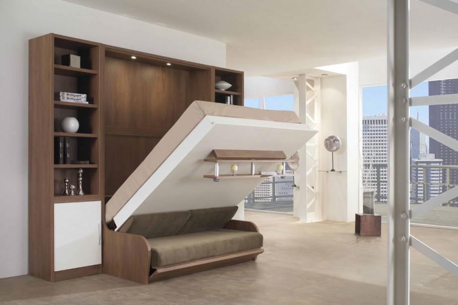 Astucieux rangements pour petits espaces danielle for Lit escamotable design contemporain