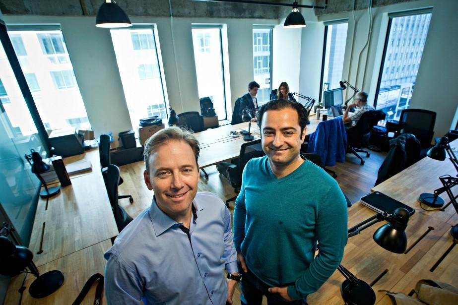 Zaid Al Hamami (à droite), président et cofondateur... (PHOTO PATRICK SANFAÇON, LA PRESSE)