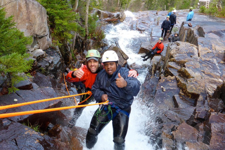 Le canyoning représente une des activités phares des... (PHOTO FOURNIE PAR FACE AUX VENTS)