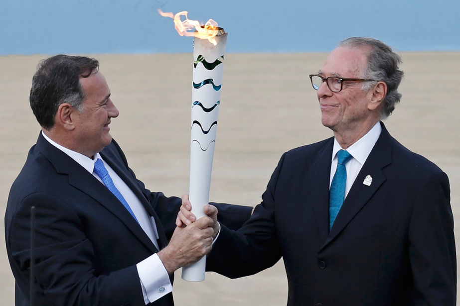 Le président du comité olympique hellénique, Spyros Kapralos... (Photo Alkis Konstantinidis, Reuters)