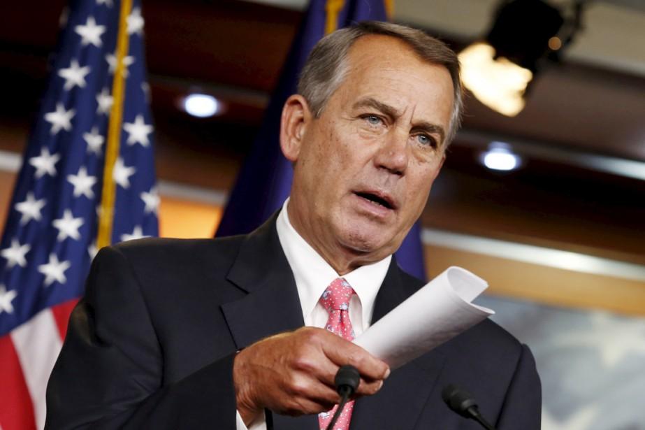 L'ex-président de la Chambre des représentants John Boehner... (PHOTO YURI GRIPAS, ARCHIVES REUTERS)