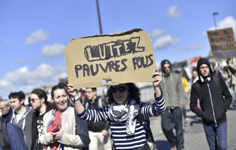Une manifestante à Nantes (AFP, Loic Venance)