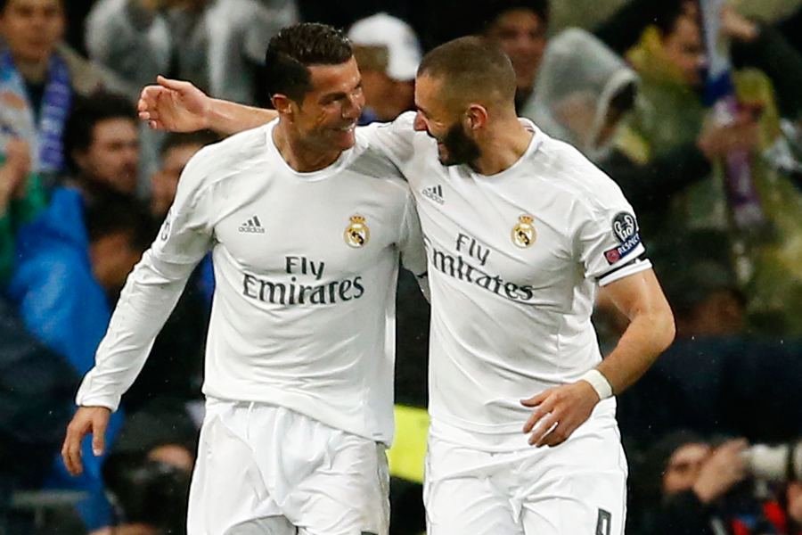 Cristiano Ronaldo et Karim Benzema... (Photo Sergio Perez, archives Reuters)