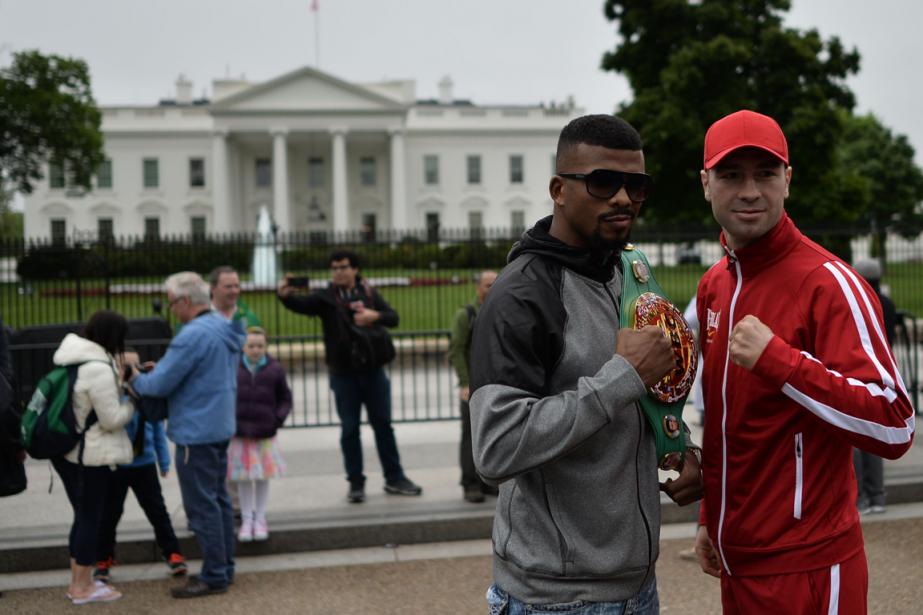 Badou Jack et Lucian Bute se sont fait... (Photo Andrew Caballero-Reynolds, AFP)