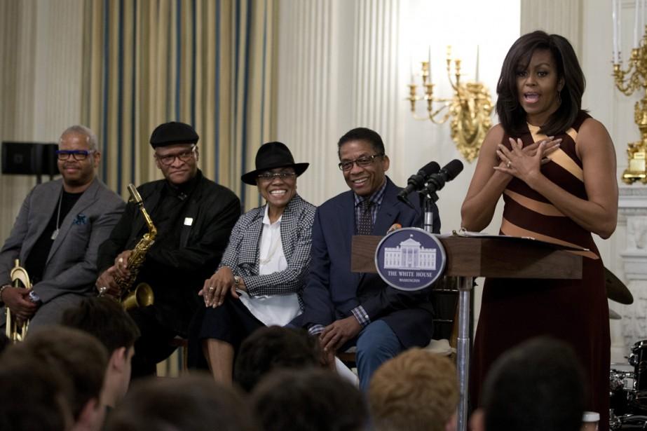 La Première dame Michelle Obama aux côtés de... (Photo Carolyn Kaster, AP)