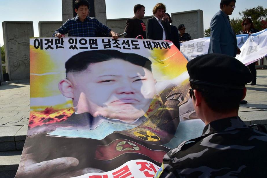 La Corée du Nord est sous le coup... (Photo AFP)