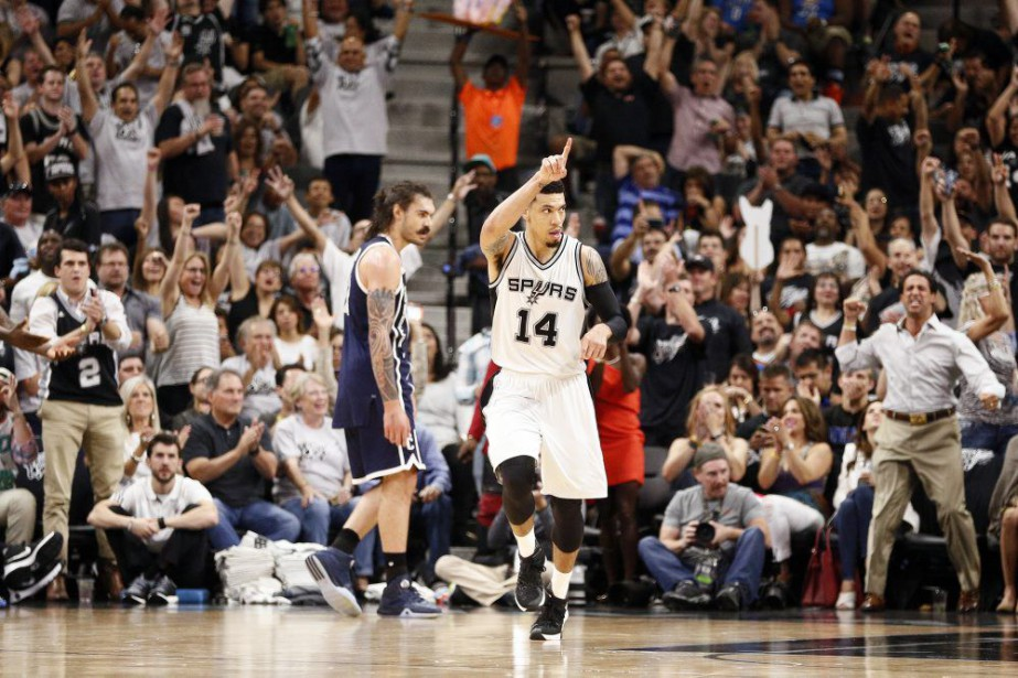 Danny Green (14) célèbre son panier réussi.... (PHOTO SOOBUM IM, USA TODAY)