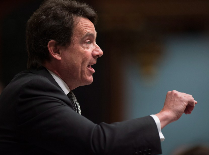 Quebec Opposition Leader Pierre-Karl Peladeau questions the government...