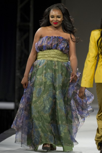 Défilé de l'Académie de mode Richard Robinson 2016. Une création de Claudine Bengala, étudiante en 2e année. ()