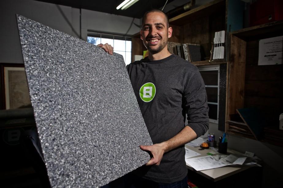 Nicolas Desjardins, président fondateur de Béton Surface... (PhotoAndré Pichette,La Presse)