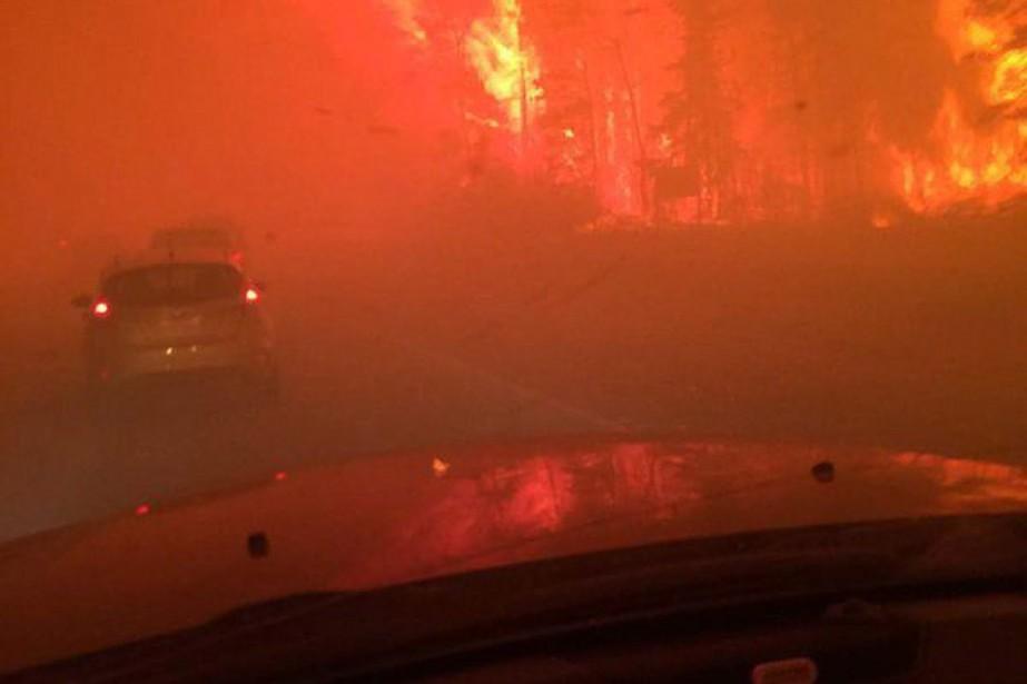 L'incendie de forêt avançait plus vite que les... (Photo Holly Ayearst, PC)