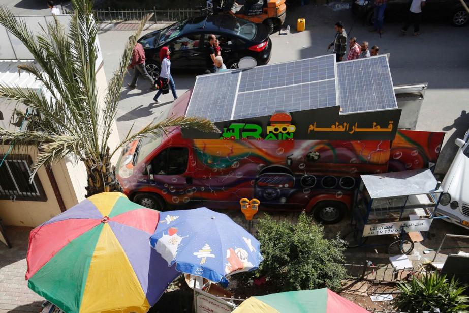 Khaldoun et Abderrahmane ont eu l'idée du «Food... (PHOTO AFP)