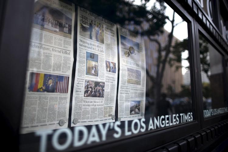 Tribune Publishing est notamment propriétaire du Los Angeles... (PHOTO REUTERS)