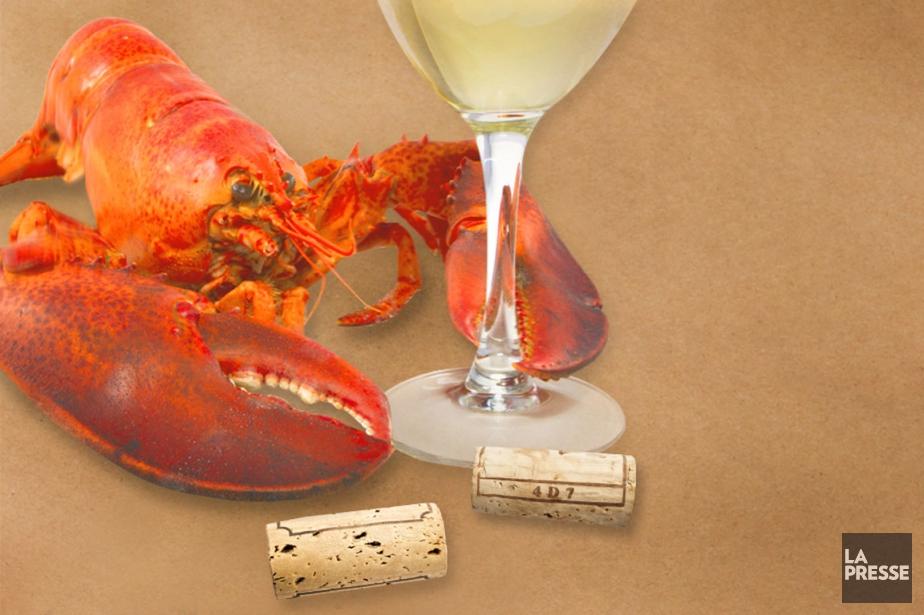 Quelques suggestions pour boire avec votre crustacé.... (PHOTOMONTAGE LA PRESSE)